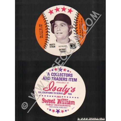 Sport Baseball Discs Name: Staub, Rusty Outfielder Detroit Tigers~735
