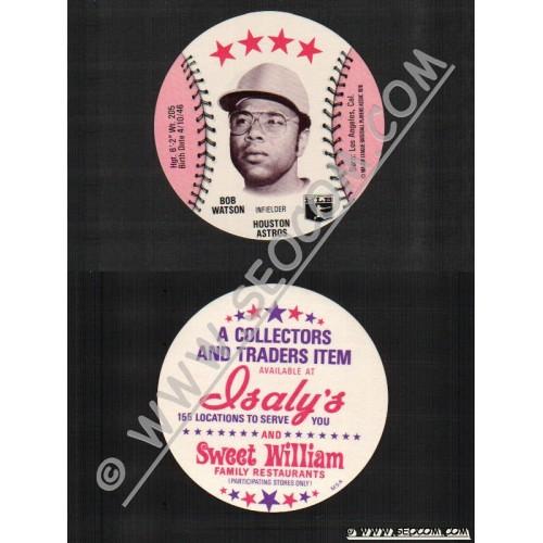 Sport Baseball Discs Name: Watson, Bob Infielder Houston Astros~742