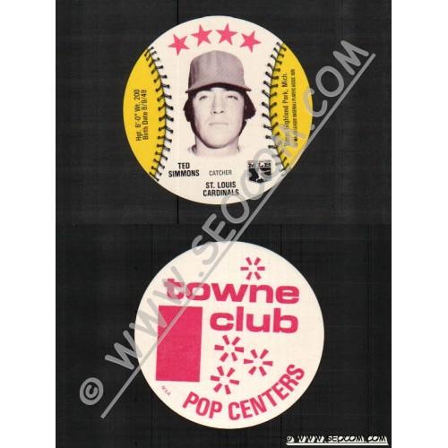 Sport Baseball Discs Name: Simmons, Ted Catcher St Louis Cardinals~799