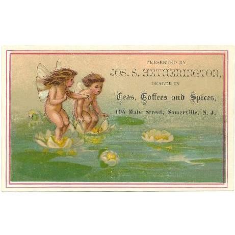 NJ Somerville Victorian Trade Card Jos. S. Hetherington 195 Main Street Te~27