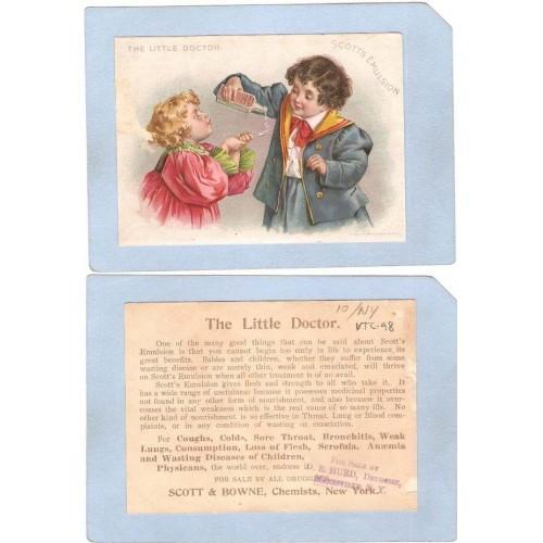 New York Mannsville Victorian Trade Card D. E. Hurd, Druggist~98