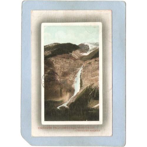 CAN Field Postcard Takakkaw Falls 1200 Feet High Yoho Valley Canadian Rock~28