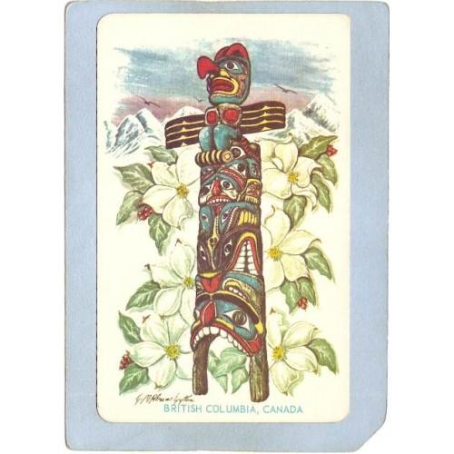 CAN Komkotes Postcard Bella Coola House Pole can_box1~51