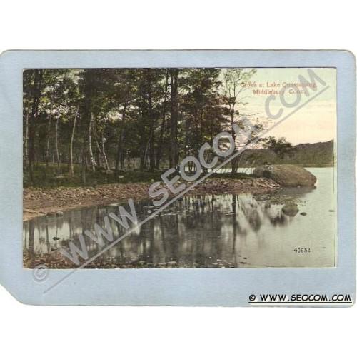 CT Middlebury Postcard Cove At Lake Quassapaug ct_box3~1133