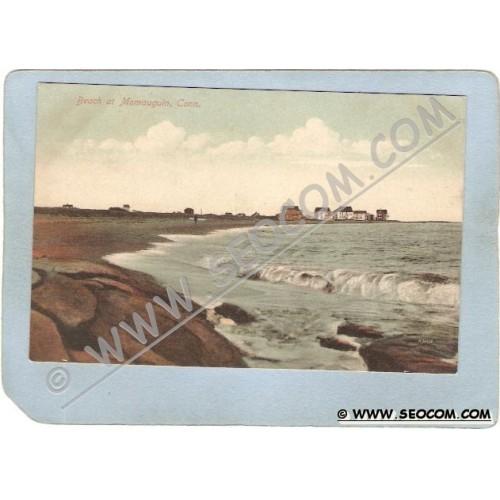 CT Momauguin Postcard Beach At Momauguin ct_box3~1145