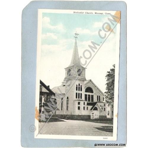 CT Moosup Postcard Methodist Church ct_box3~1169