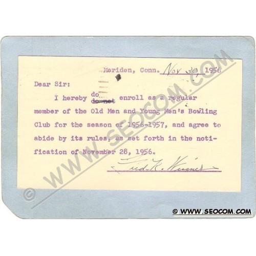 CT Meriden Postcard Cards To Mr Charles A Newton Statistican C/O Meriden C~1221