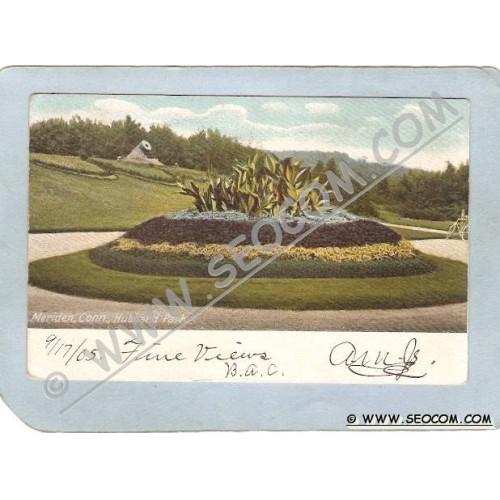 CT Meriden Postcard Hubbard Park ct_box3~1229