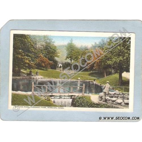 CT Meriden Postcard Wading Pool Hubbard Park ct_box3~1232