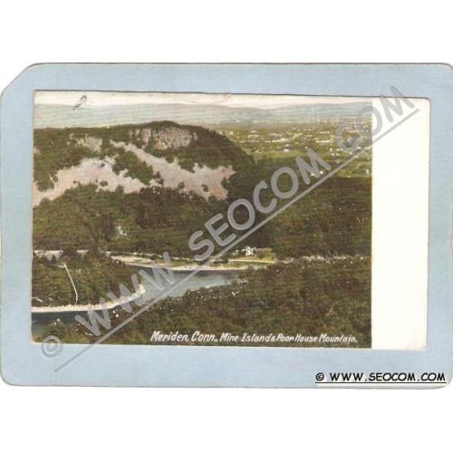 CT Meriden Postcard Mine Island & Poor House Mounrtain ct_box3~1270