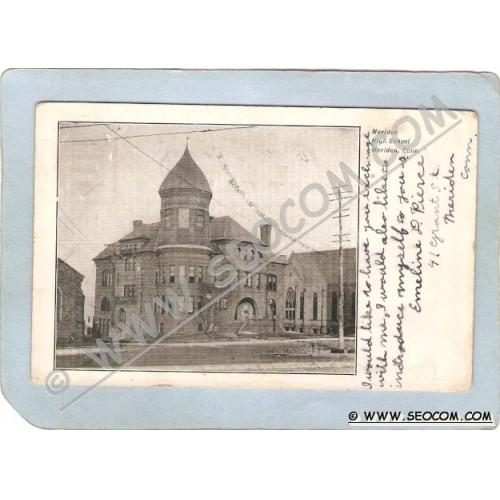 CT Meriden Postcard Meriden High School Undivided Back ct_box3~1285