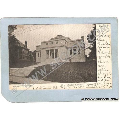 CT Meriden Postcard Curtis Memorial Library ct_box3~1291