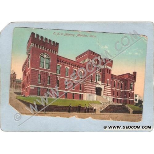 CT Meriden Postcard C N G Armory ct_box3~1306