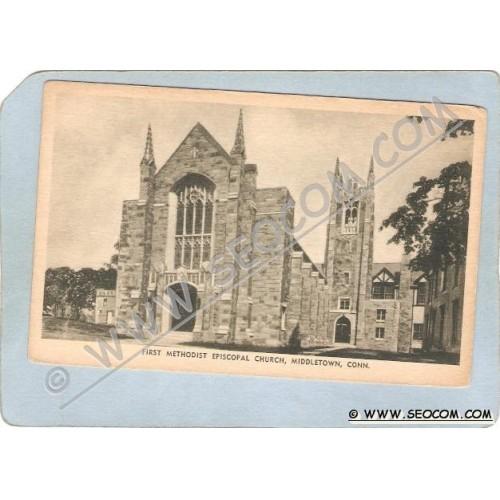 CT Middletown Postcard First Methodist Episcopal Church ct_box3~1355