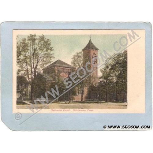 CT Middletown Postcard Methodist Church ct_box3~1358
