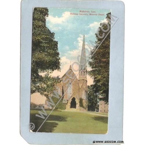 CT Middletown Postcard Wesleyan University Memorial Chapel ct_box3~1375