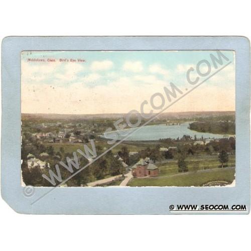 CT Middletown Postcard Bird's Eye View Middletown CT ct_box3~1422