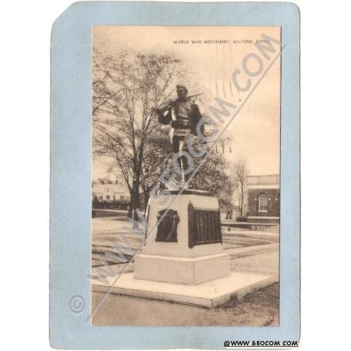 CT Milford Postcard World War Monument ct_box3~1456