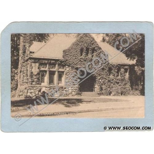 CT Milford Postcard Taylor Library ct_box3~1465