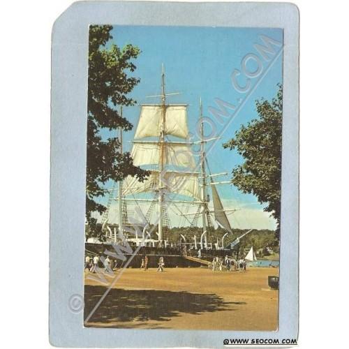 CT Mystic Postcard Mystic Seaport Charles W Morgan ct_box3~1495