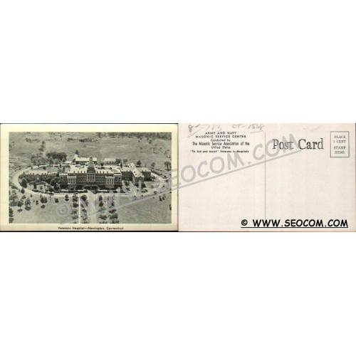 CT Newington Postcard Veterns Administration Hospital Army & Navy Masonic ~1568