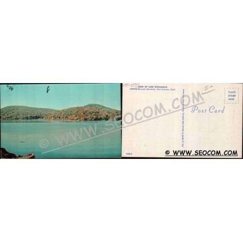 CT New Preston Postcard View Of Lake Waramaug Showing Bushnell Mountain ct~1593