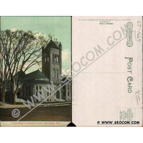 CT New Britain Postcard Trinity Methodist Episcopal Church ct_box4, getfro~1667
