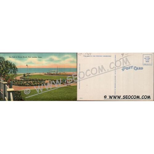 CT New London Postcard The Park At Ocean Beach ct_box4~1764