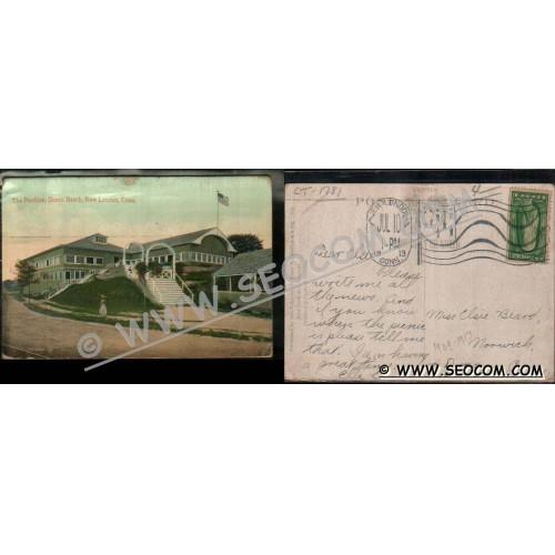 CT New London Postcard The Pavilion Ocean Beach ct_box4~1781