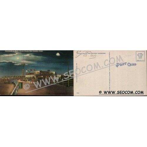 CT New London Postcard Boardwalk At Night Ocean Beach ct_box4~1800