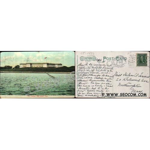 CT New London Postcard Fort Trumbull ct_box4~1830