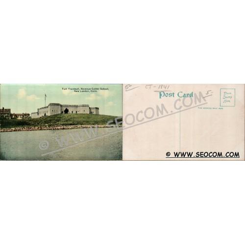 CT New London Postcard Fort Trumbull Revenue Cutter School ct_box4~1841