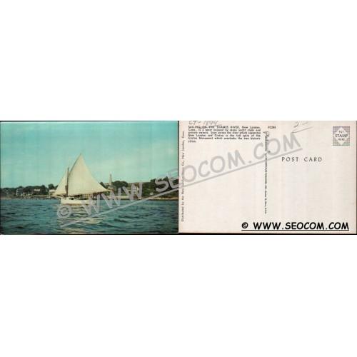 CT New London Postcard Sailing On The Thames River ct_box4~1894