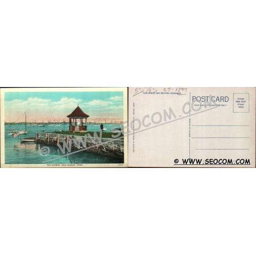 CT New London Postcard The Harbor ct_box4~1897