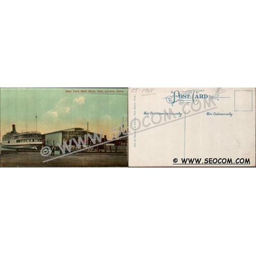 CT New London Postcard New York Boat Dock ct_box4~1928