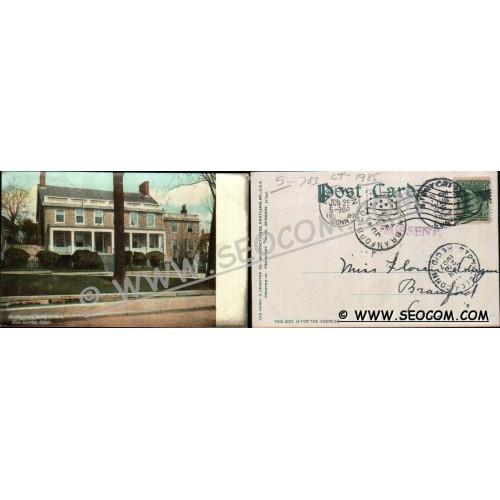 CT New London Postcard Washington's Headquarter's ct_box4~1985