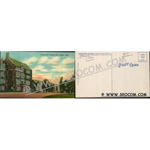 CT New London Postcard Connecticut College ct_box4~2040