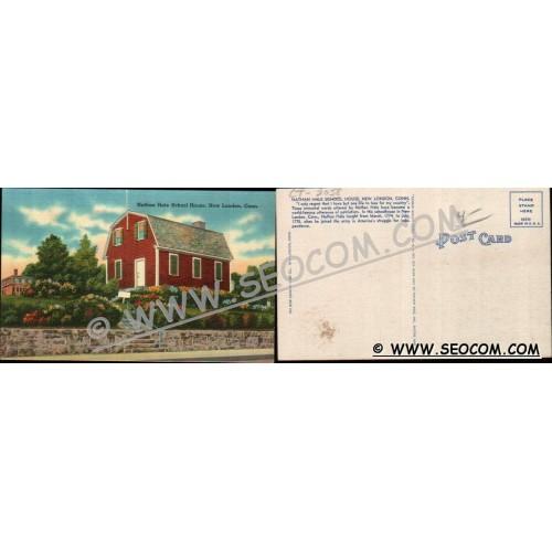 CT New London Postcard Nathan Hale School House ct_box4~2058