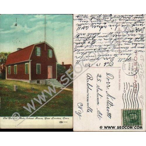 CT New London Postcard Old Nathan Hale School House ct_box4~2075