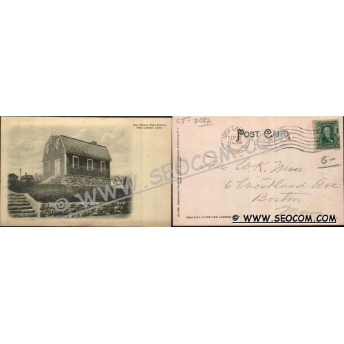 CT New London Postcard Old Nathan Hale School ct_box4~2082