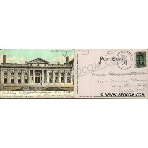 CT New London Postcard The Savings Bank Of New London Undivided Back ct_bo~2153