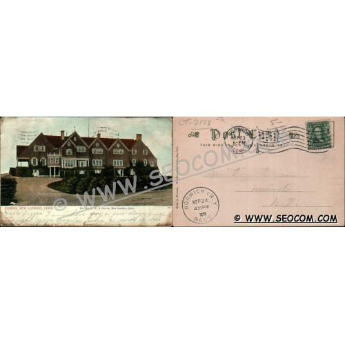 CT New London Postcard Casino Street Scene Undivided Back ct_box4~2178