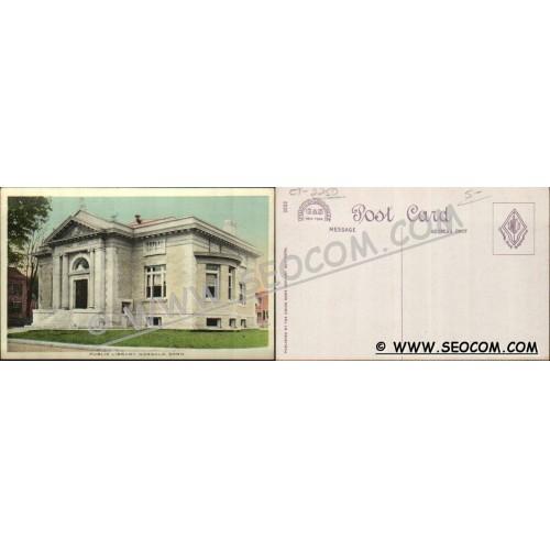 CT Norwalk Postcard Public Library ct_box4~2250