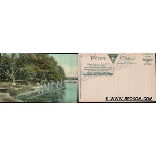 CT Norwich Postcard West Bank Of Lake Mohegan Park Official Souvenir Post ~2311