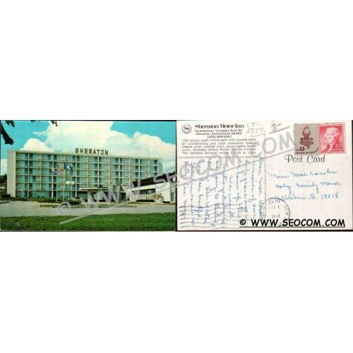 CT Norwich Postcard Sheraton Motor Inn Ct Turnpike Exit 80 ct_box4~2337