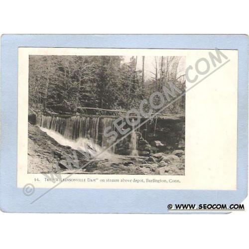 CT Burlington The Wilkinsonville Dam On Stream Above Depot ct_box1~42