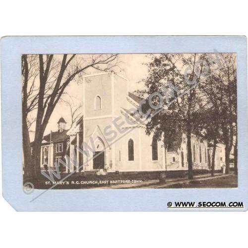 CT East Hartford St Marys R C Church Photo Type Card ct_box2~638