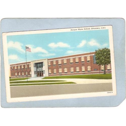 IA Ottumwa Postcard Horace Mann School spare_box1~144