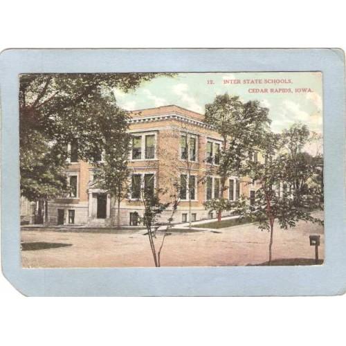 IA Cedar Rapids Postcard Inter State Schools state_box3~37
