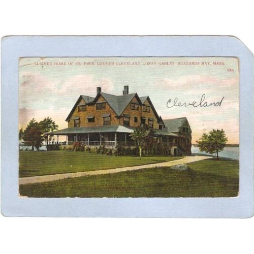 MA Buzzards Bay Summer Home Of Ex President Grover Cleveland Gray Gables m~264